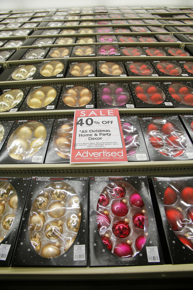 Photo - Ornaments on display at Hobby Lobby in Edmond.