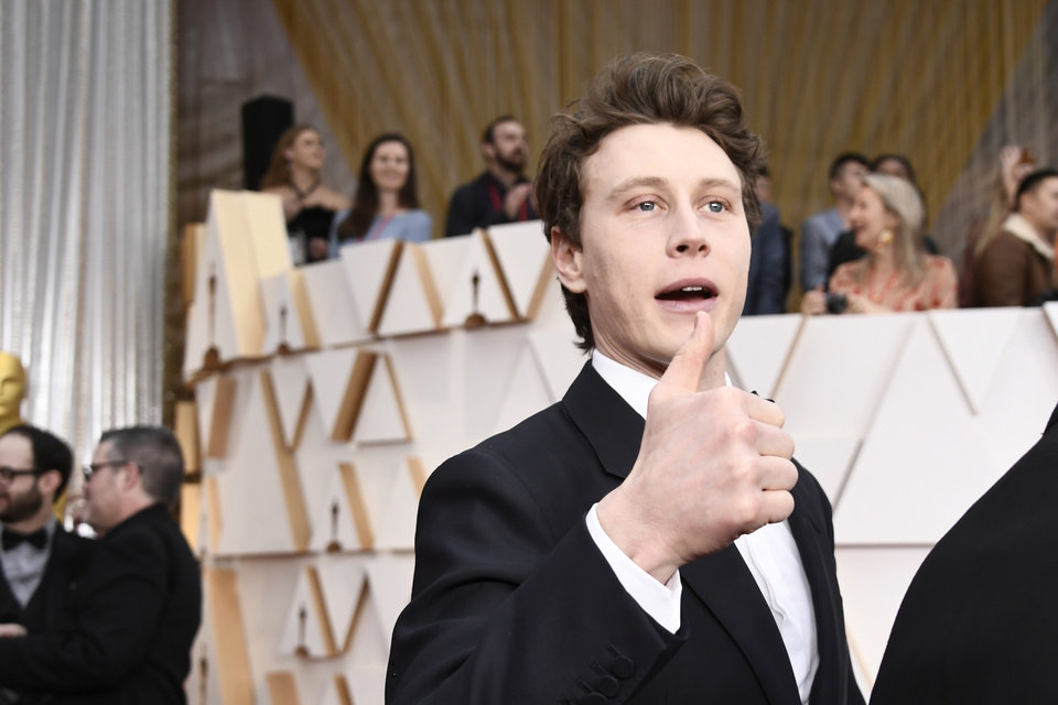 Photo - Feb 9, 2020; Los Angeles, CA, USA; George MacKay  arrives at the 92nd Academy Awards at Dolby Theatre. Mandatory Credit: Robert Hanashiro-USA TODAY