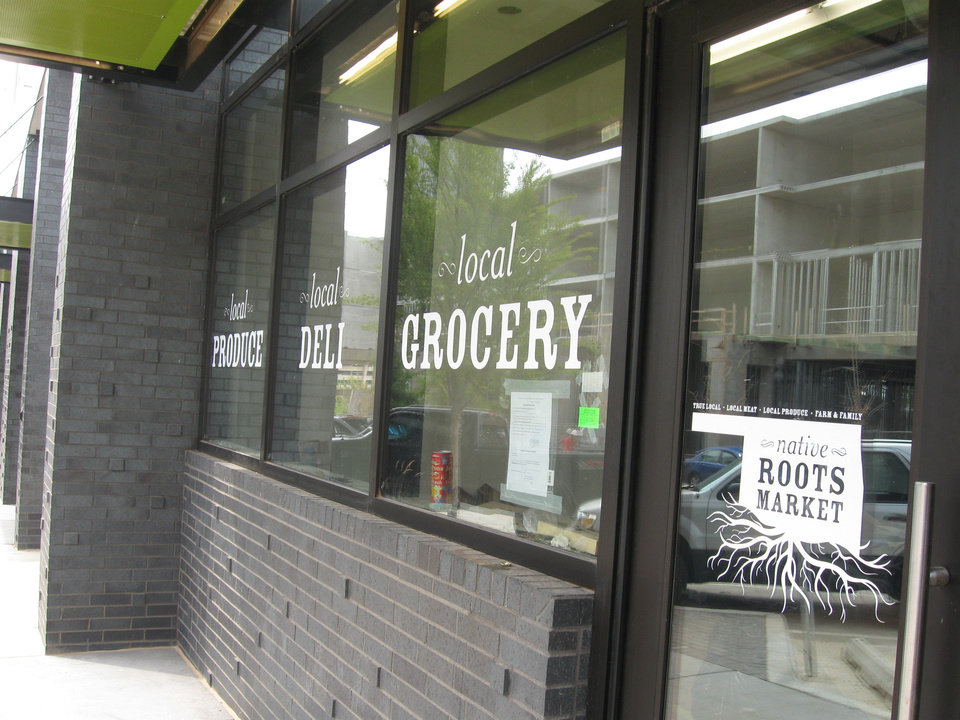 Native Roots Market on the first floor of Level Urban Apartments, NE 2 and Walnut, is set to open up next month. <strong>Steve Lackmeyer</strong>