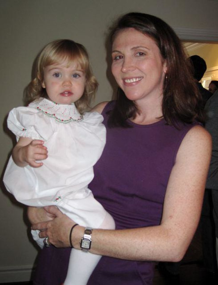 Photo -  Blythe and Maura Bradshaw enjoy the event for the new baby.