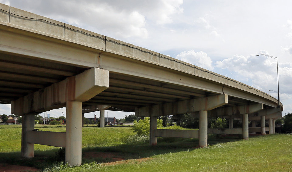 Photo -  One of the Belle Isle bridges is shown Monday in Oklahoma City. Photo by Nate Billings, The Oklahoman   NATE BILLINGS -