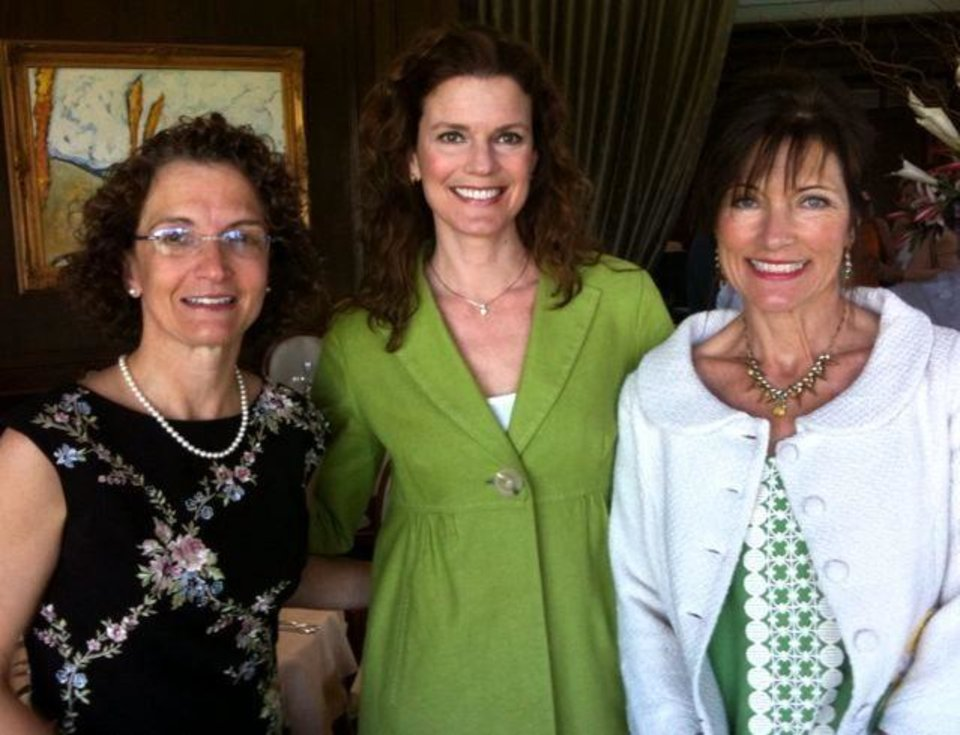 Niki Puffinbarger, Anne Henderson, Gaye Mills were at the Oklahoma City Golf and Country Club tennis luncheon. PHOTO PROVIDED