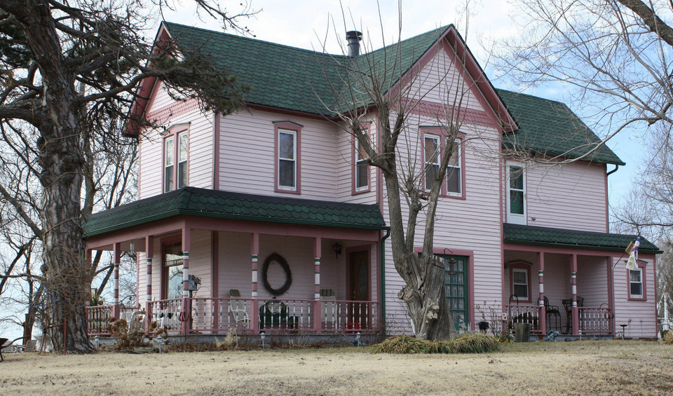 "Photo - Above: The Sheets House in Newkirk, ""an outstanding example of the Queen Anne style,"" has been listed on the National Register of Historic Places.  PHOTO PROVIDED BY STATE HISTORIC PRESERVATION OFFICE"