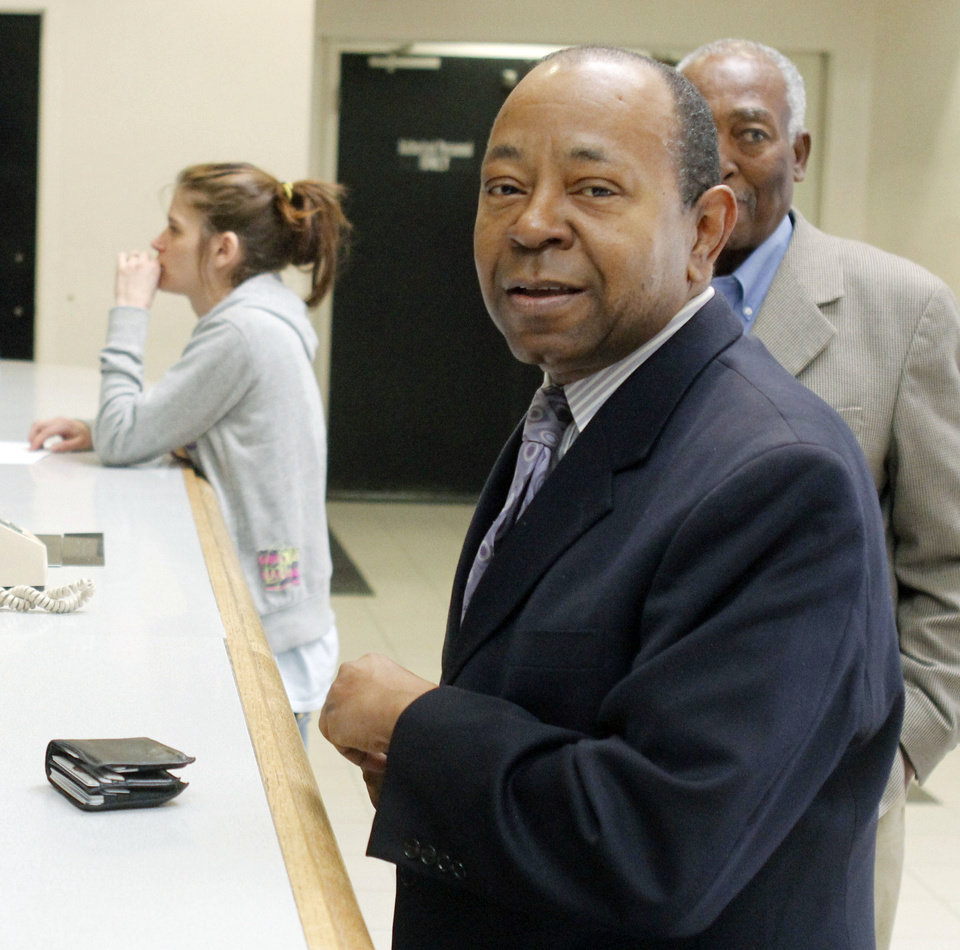 Currie Ballard arrives Thursday to be firngerprinted and photographed at the Oklahoma County jail. Photo by Paul Hellstern, The Oklahoman  <strong>PAUL HELLSTERN</strong>