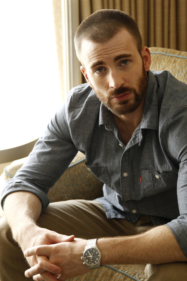 Photo -   In this April 12, 2012 photo, cast member Chris Evans, from the upcoming film