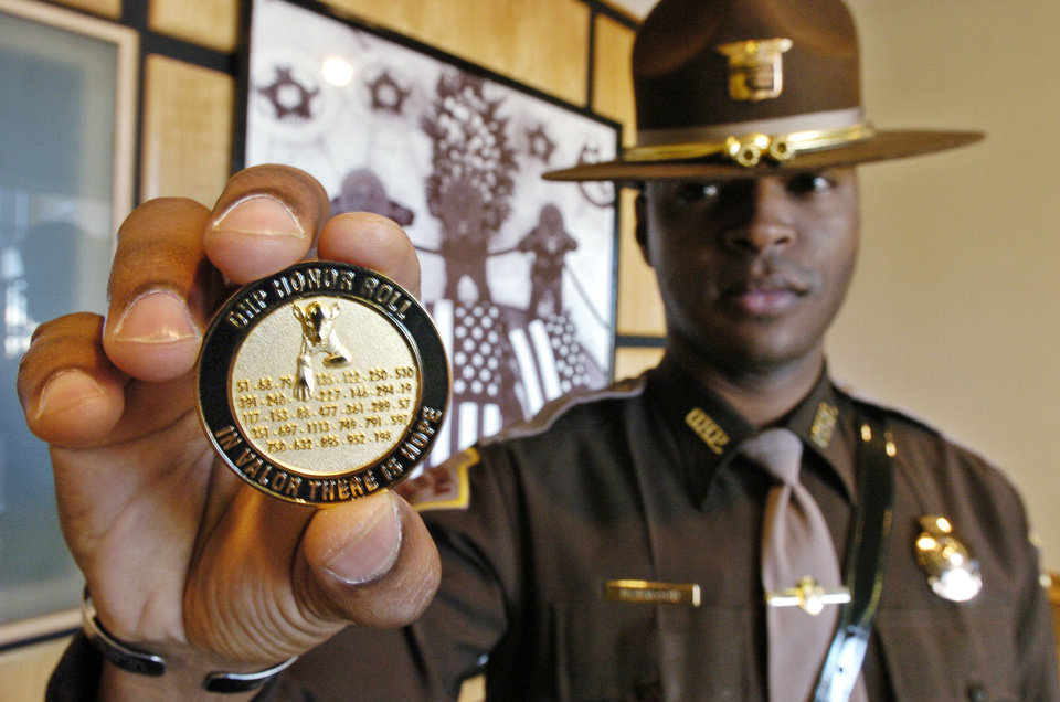 "Oklahoma Highway Patrol veteran Rodrick ""Pete"" Norwood, shown in 2005, died Saturday at age 42. Photo by David McDaniel, The Oklahoman Archives"