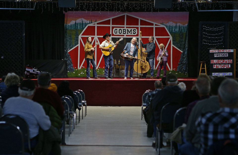 The band Fireside performs bluegrass music  at the Oklahoma Country Western Museum and Hall of Fame in Del City. Photo by Bryan Terry, The Oklahoman <strong>BRYAN TERRY - THE OKLAHOMAN</strong>