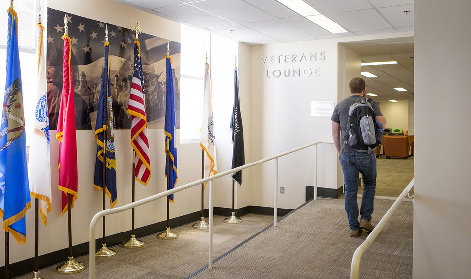 Photo -  Oklahoma State University students have available a Veteran's Lounge on the fourth floor of the Student Union on the OSU campus in Stillwater. Photo provided by OSU   Gary Lawson