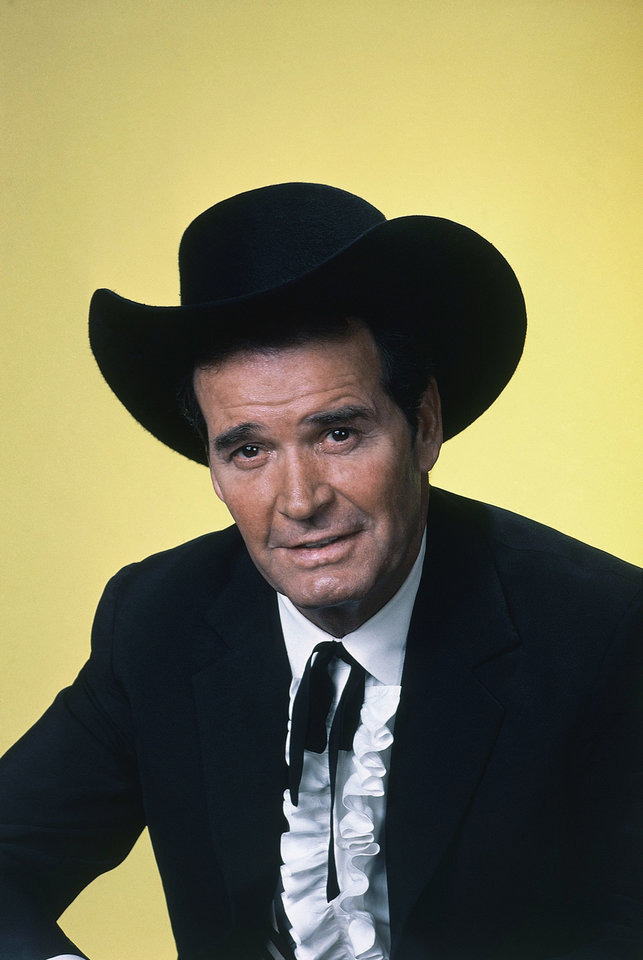 "Photo - FILE - Actor James Garner is shown in character in this April 7, 1982 file photo. Actor James Garner, wisecracking star of TV's ""Maverick"" who went on to a long career on both small and big screen, died Saturday July 19, 2014 according to Los angeles police. He was 86. (AP Photo/NBC, File)"