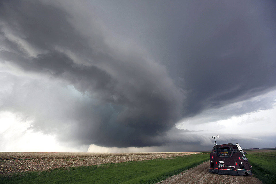 Norman resident Reed Timmer created the storm research vehicle ?The Dominator.? Photo provided