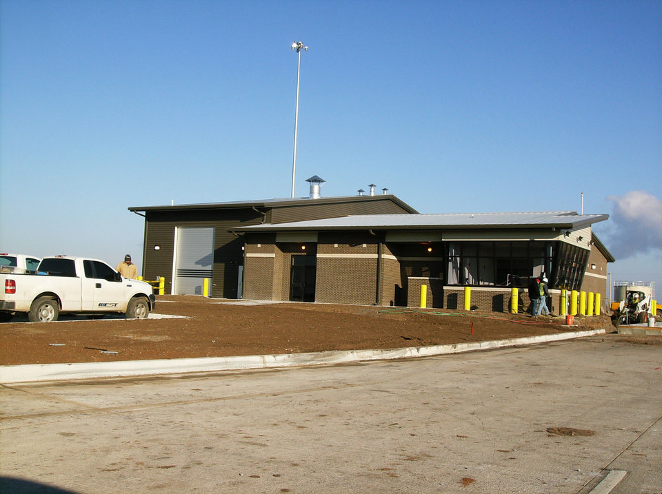 Photo - The new port of entry weigh station in northern Oklahoma. PHOTOs PROVIDED