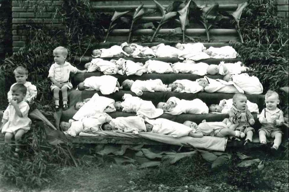 The ladies of Deaconess provided shelter and care for numerous infants and children, shown here basking in the sun to cure jaundice. Photo provided <strong></strong>