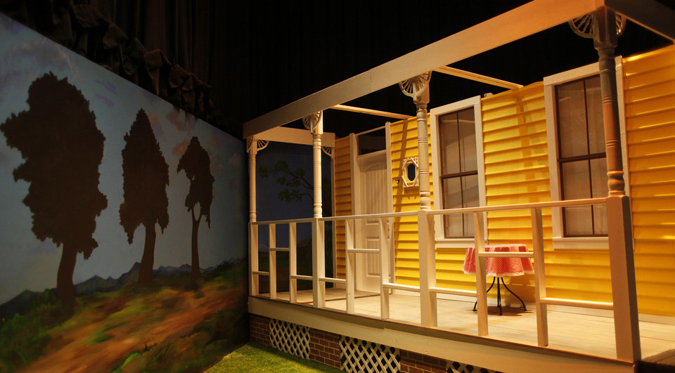 "Photo - A set from ""Oklahoma!"" is on display at the ""Oklahoma @ The Movies"" exhibit at the Oklahoma History Center. Photos by Doug Hoke, The Oklahoman ARCHIVES"