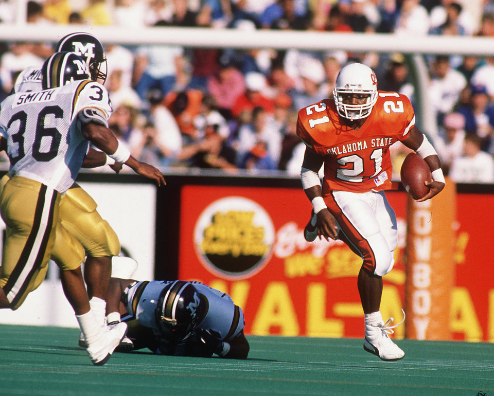 Oklahoma State football: Barry J. Sanders to wear his old ...