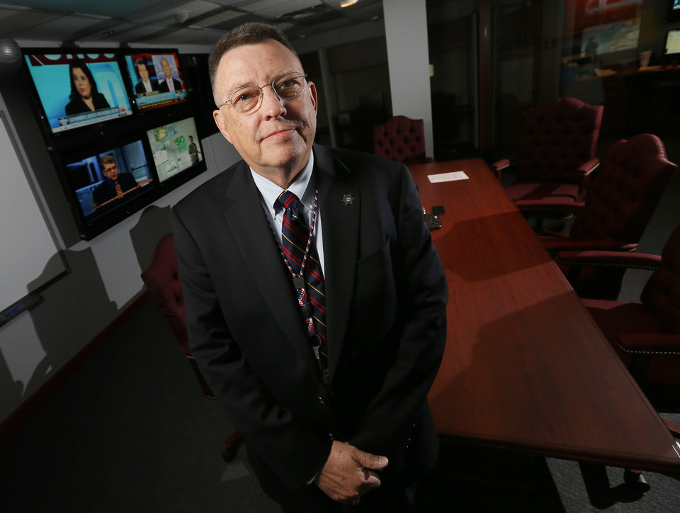 David Stenhouse, director of the Oklahoma Information Fusion Center, stands inside the Oklahoma State Bureau of Investigation at 6600 N Harvey, Oklahoma City. Photo by Nate Billings, The Oklahoman