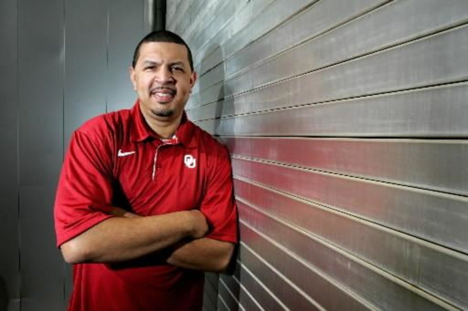 Photo - University of Oklahoma college basketball head coach Jeff Capel poses for a photo at the Lloyd Noble Center in Norman, Oklahoma November 11, 2009. Photo by Steve Gooch, The Oklahoman