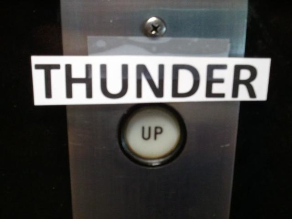 ""\""""Thunder Up"""" - The Elevator In My Building At Work!""960|720|?|en|2|2ea7499ac8b4dfefe7a070a14ebb4039|False|UNLIKELY|0.3551598787307739