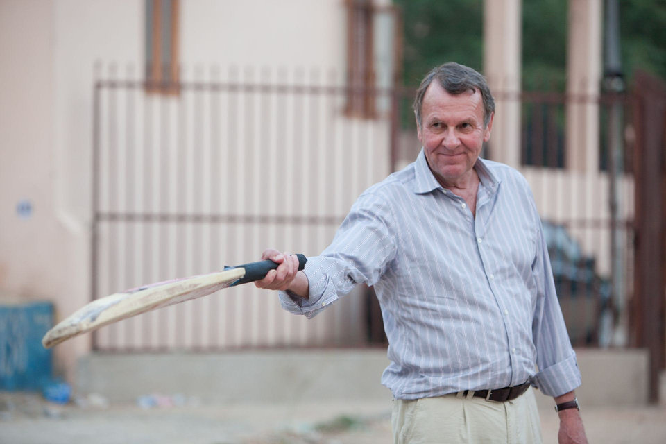 Photo - Tom Wilkinson is shown on the set of