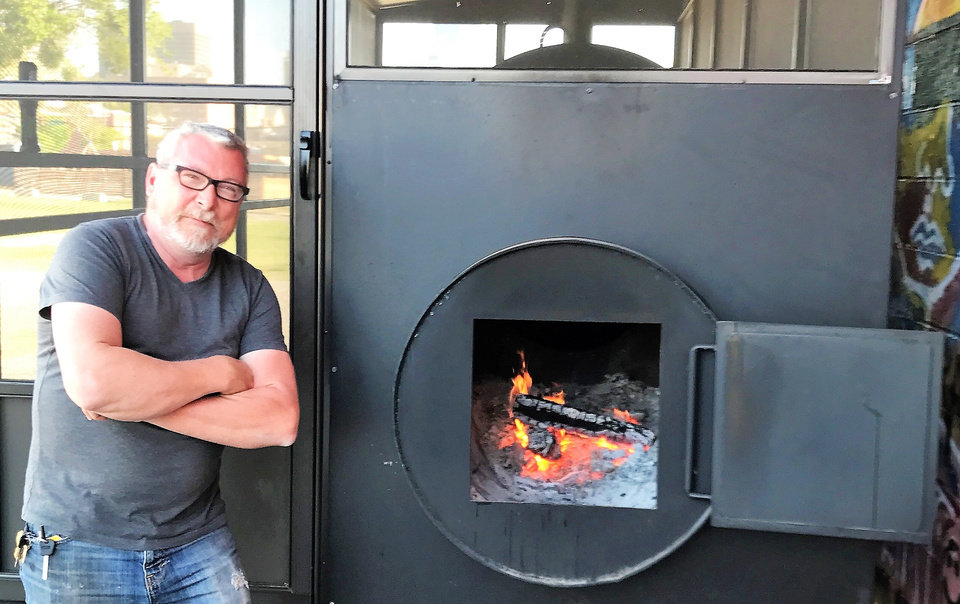 Photo -  Designer and contractor Larry Dean Pickering, who built this commercial smoker for Maples Barbecue, will now go to work on a restaurant of his own called Canvas. [Photo by Dave Cathey, The Oklahoman]