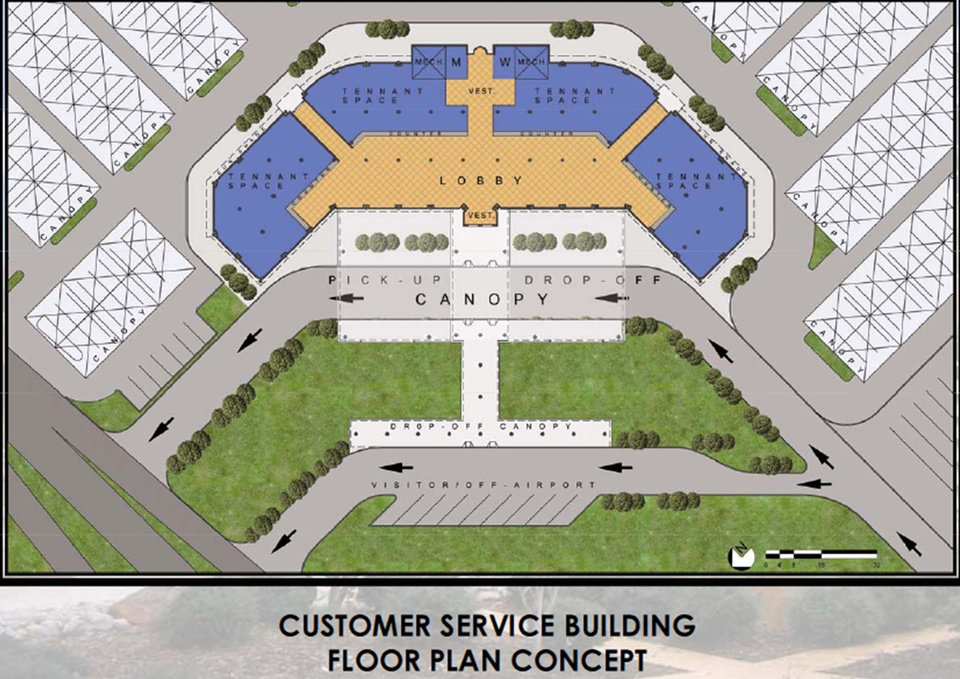 Photo - GRAPHIC: This illustration shows a proposed rental car facility at Will Rogers World Airport. IMAGE PROVIDED BY WILL ROGERS WORLD AIRPORT 		ORG XMIT: 0912162214467829
