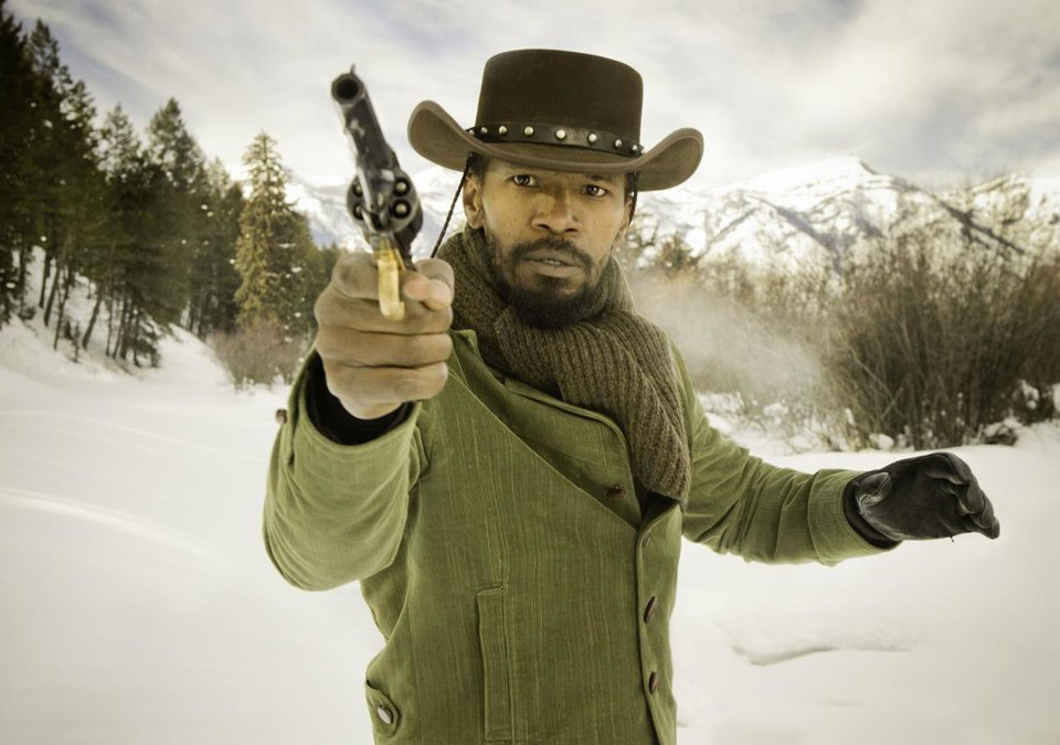 Photo - Jamie Foxx as Django in the film,