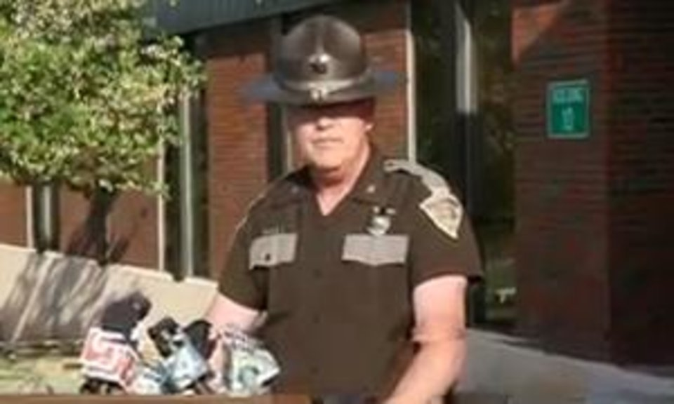 The Oklahoma Highway Patrol has concluded an investigation into sexual misconduct by one of its troopers, Col. Kerry Pettingill said Friday. Image still taken from NewsOK video.