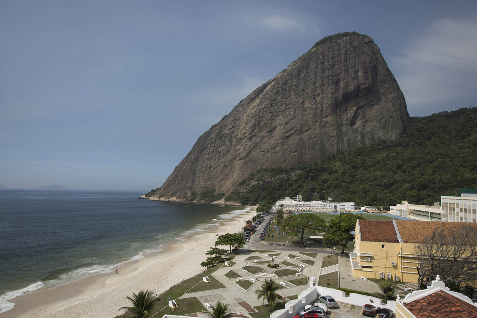 Photo - A view of the Brazilian Army Physical Training Center, where the England soccer squad will be training during the upcoming World Cup, in Rio de Janeiro, Brazil, Thursday, April 10, 2014. Sugar Loaf mountain is pictured in the background. (AP Photo/Felipe Dana)