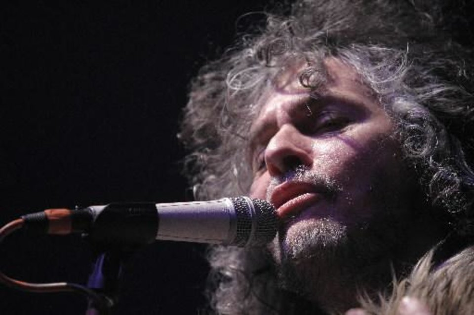 Wayne Coyne, of the Flaming Lips, performs during the Flaming Lips New\'s Year\'s Freak Out at the Coca Cola Event Center in Oklahoma City, Saturday, Dec. 31, 2011. Photo by Garett Fisbeck, The Oklahoman Archives