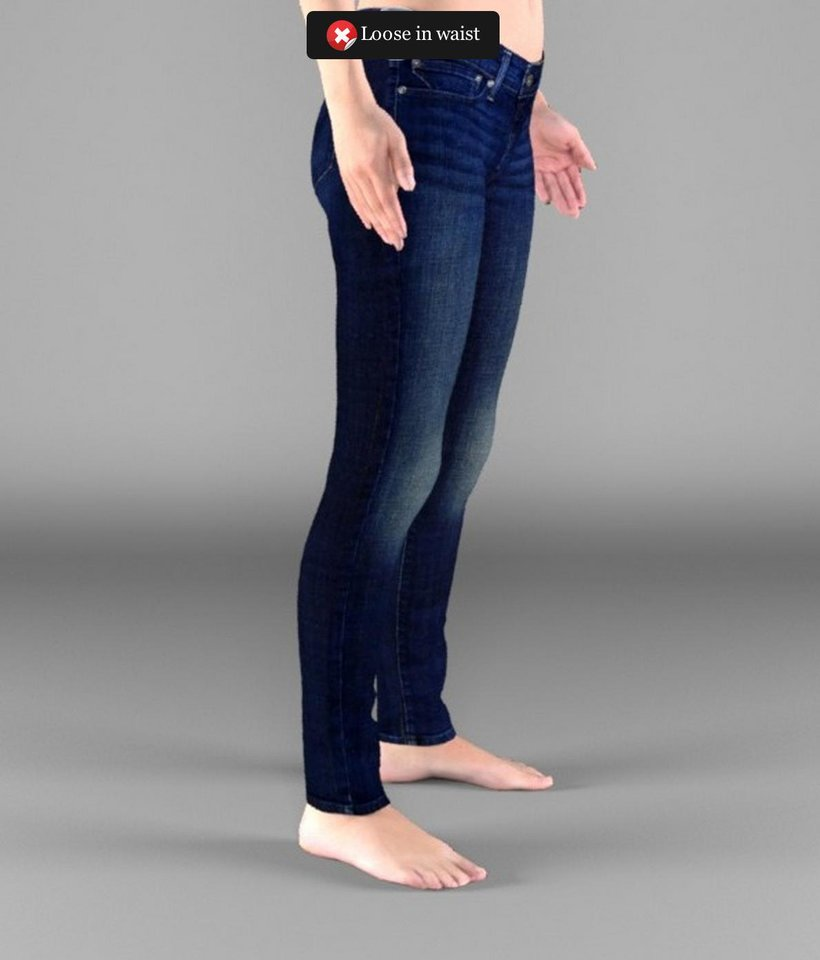 Photo - This product image provided by eBay shows what a pair of jeans looks like on a 3-D model in an online virtual dressing room.   AP Photo  Uncredited -  AP