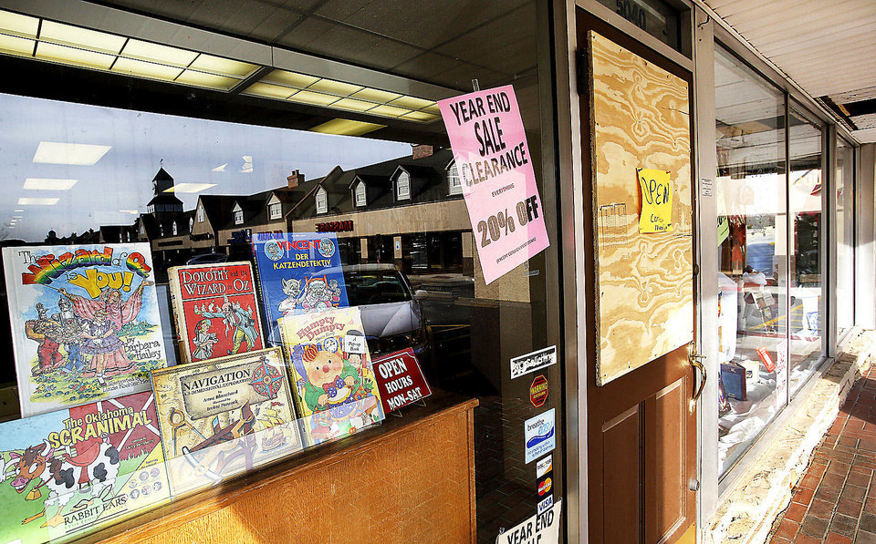 Despite a fire that could have destroyed more than 40,000 rare and used books at a landmark Oklahoma City bookstore, Aladdin Book Shoppe remains open for customers last Saturday, Dec. 22, 2012. Photo by Jim Beckel, The Oklahoman