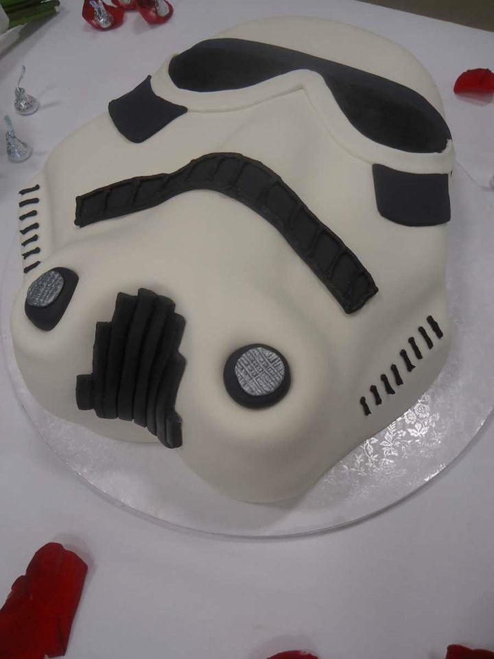 Photo - This groomscake, in the shape of a Star Wars Stormtrooper, was made by Baked in the days following the May 20 tornado.   - PROVIDED BY DANIEL CONWAY