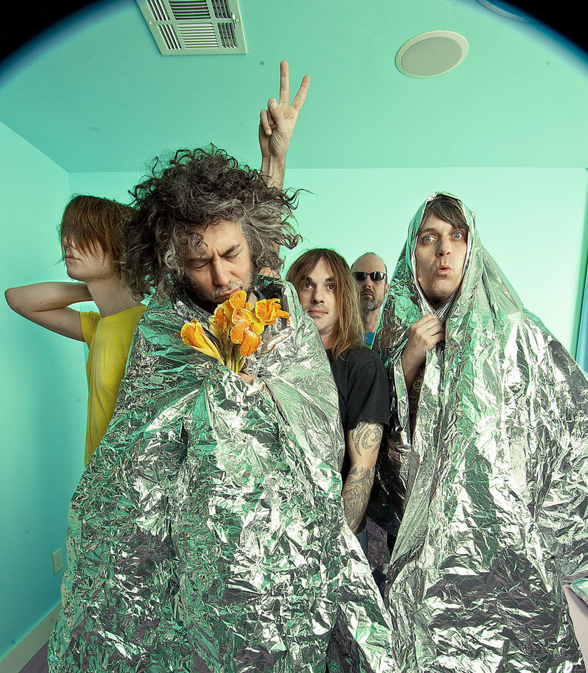 Derek Brown, Wayne Coyne, Kliph Scurlock, Michael Ivins and Steven Drozd of the Flaming Lips.  PHOTO PROVIDED BY MICHELLE MARTIN-COYNE