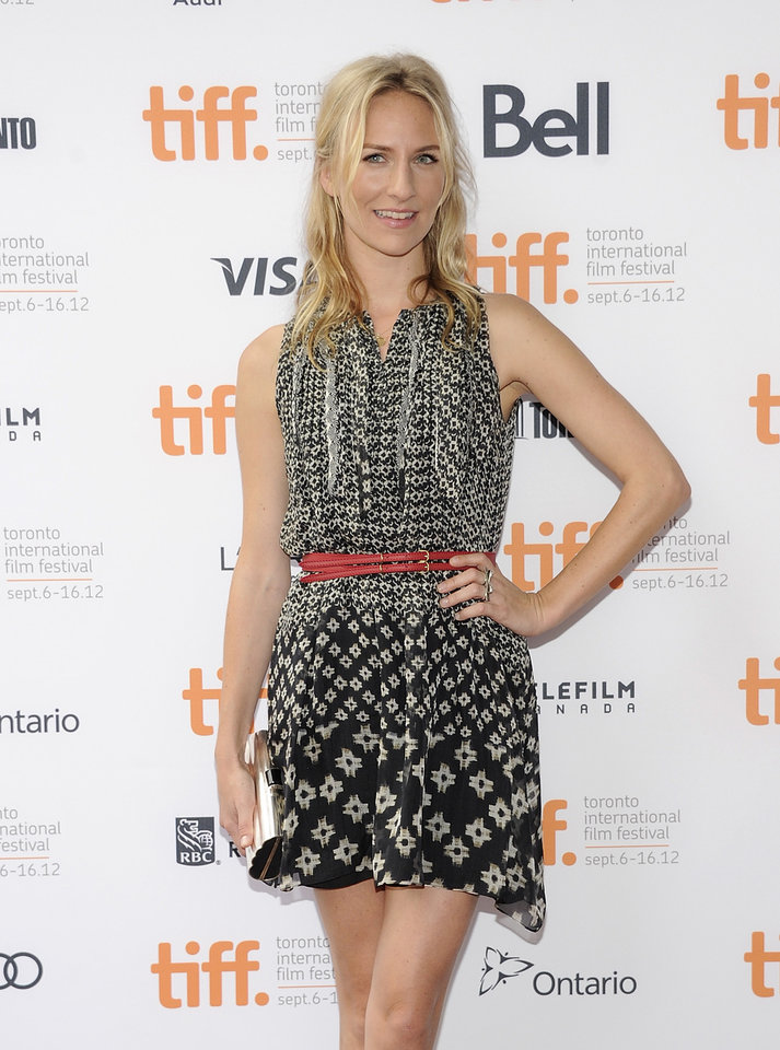 "FILE - This Sept. 7, 2012 file photo shows actress Mickey Sumner at the ""Imogene"" premiere during the Toronto International Film Festival in Toronto. Sumner has signed up to make her off-Broadway debut in Craig Lucas's new comedy �The Lying Lesson.� The Atlantic Theater Company said Tuesday, Jan. 22, 2013, that Sumner, daughter of musician Sting and Trudie Styler will star opposite Carol Kane in the comic thriller. (Photo by Evan Agostini/Invision/AP, file)"