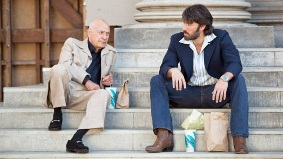 "(L-r) ALAN ARKIN as Lester Siegel and BEN AFFLECK as Tony Mendez in ""ARGO,"" a presentation of Warner Bros. Pictures in association with GK Films, to be distributed by Warner Bros. Pictures."