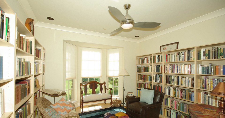 The previous owner of 6916 Cypress Hollow kept the large study in walls of books. Photo provided