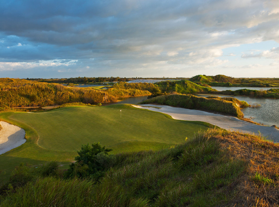 Photo - This 2013 image provided by Streamsong shows golf courses at the new Streamsong Resort in central Florida about 50 miles from Tampa. The new 16,000-acre luxury property has edgy modern architecture and two award-winning public golf courses and is located on what was once a phosphate mine.  (AP Photo/Streamsong, LC Lambrecht)