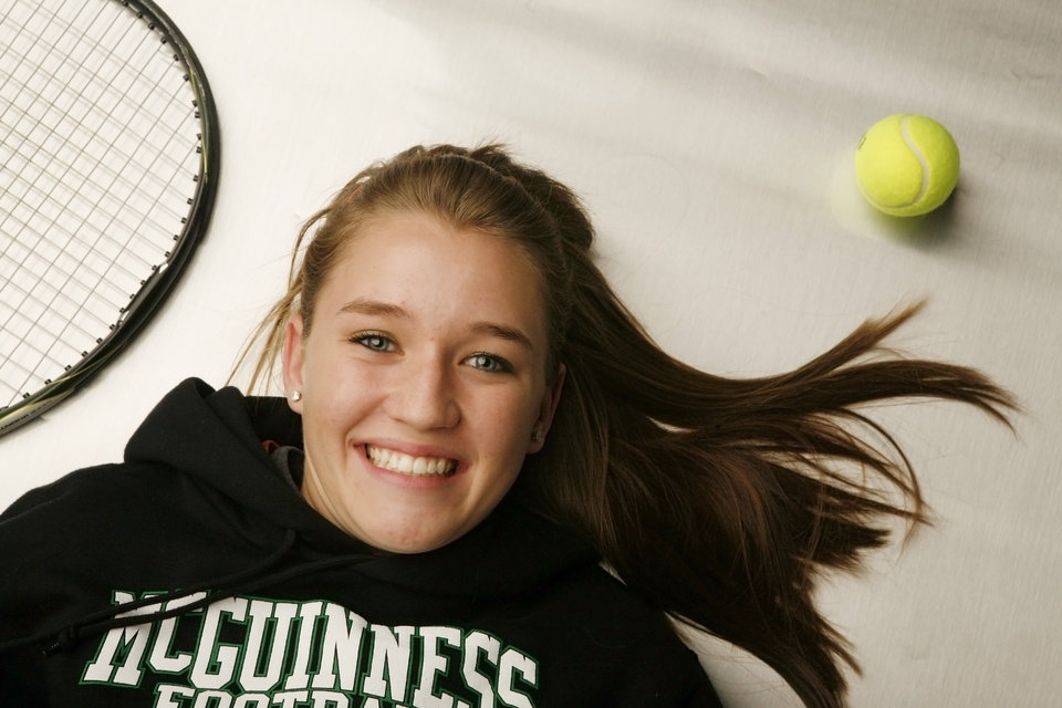 Mia Lancaster, McGuinness high school tennis athlete at the OPUBCO studio Wednesday, Feb. 13, 2008. BY DOUG HOKE, THE OKLAHOMAN