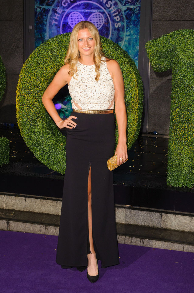 Photo - Wimbledon Women's Tennis Singles champion Petra Kvitova arriving at the Wimbledon Champions Dinner 2014, at the Royal Opera House, in Covent Garden, London, Sunday July 6, 2014. (AP Photo/PA, Dominic Lipinski)  UNITED KINGDOM OUT  NO SALES  NO ARCHIVE