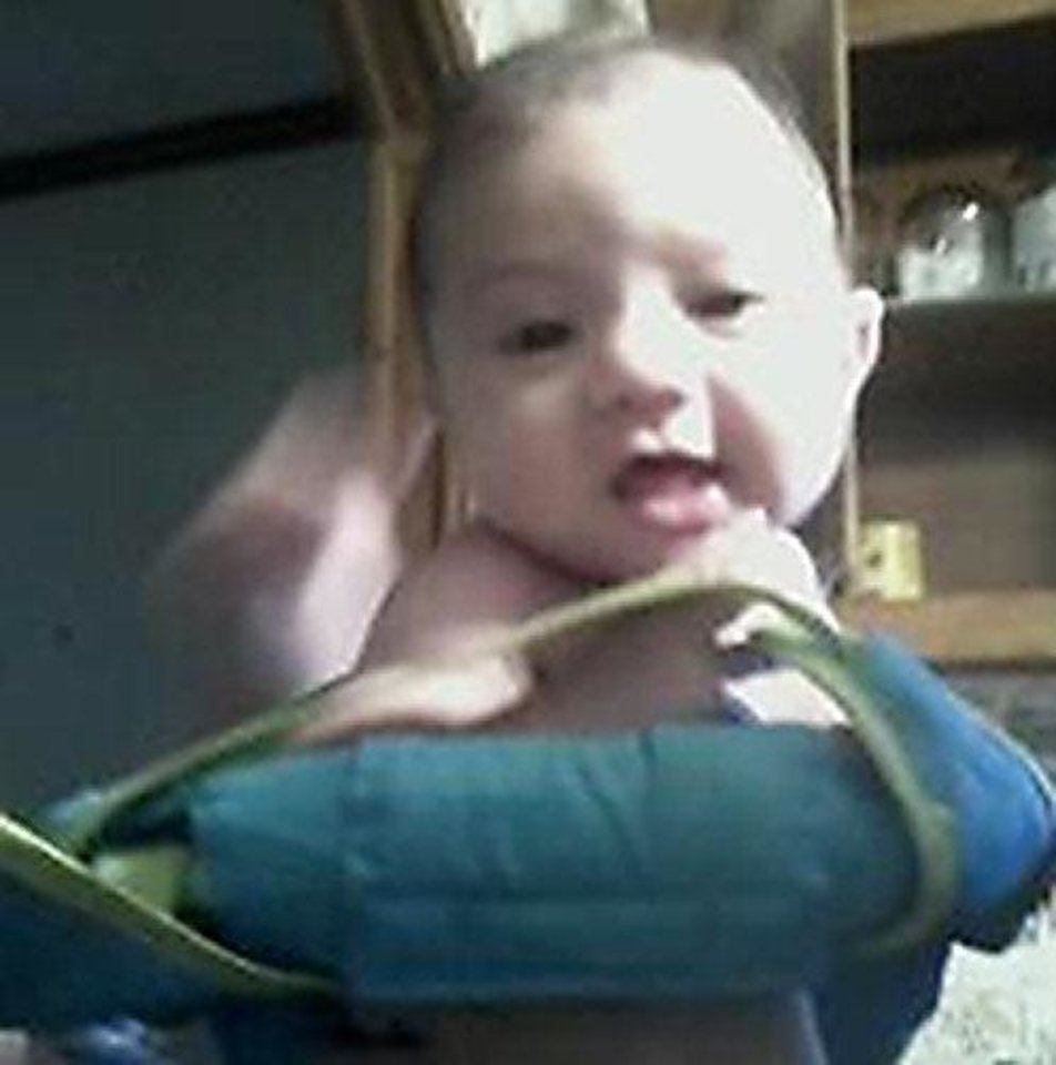 Photo - A missing child from an Amber Alert, Carolinn Altaffer, 8 months old, is pictured. Photo provided  PROVIDED
