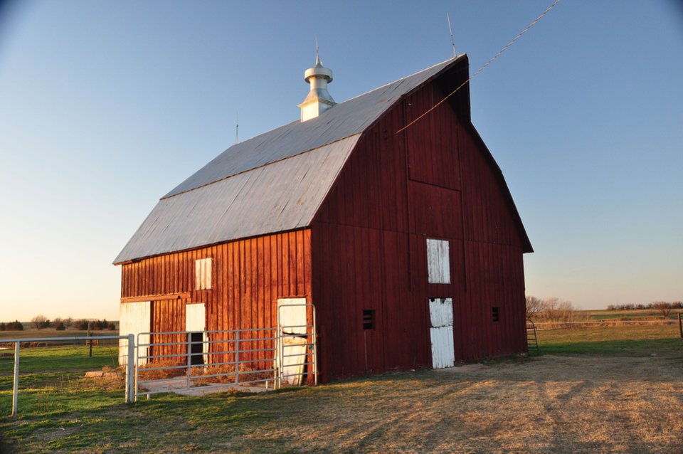 Photo - The historic Stangl Barn near Okarche.  PROVIDED - PROVIDED BY STATE HISTORIC PRESE