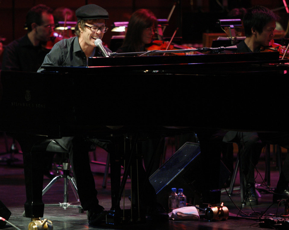 Ben Folds preforms with the Oklahoma City Philharmonic at Civic Center Music Hall on Thursday, Nov. 3, 2011. Photo by Bryan Terry, The Oklahoman