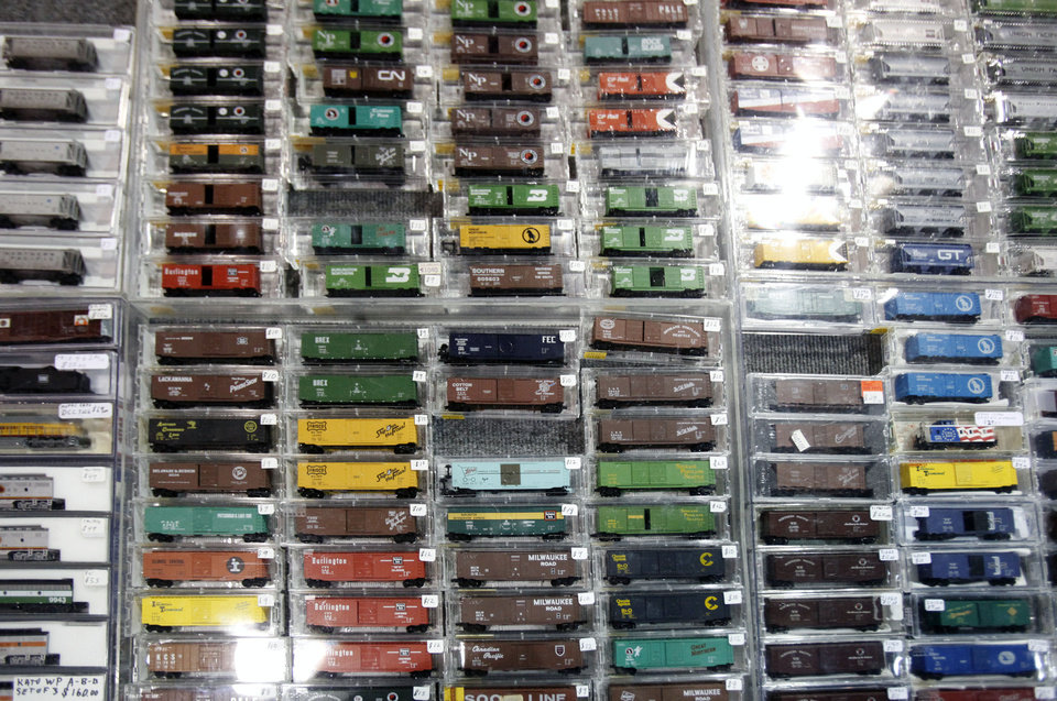 Photo - Thousands of model train cars were for sale during the OKC Train Show at State Fair Park in Oklahoma City, OK, Saturday, December 1, 2012,  By Paul Hellstern, The Oklahoman