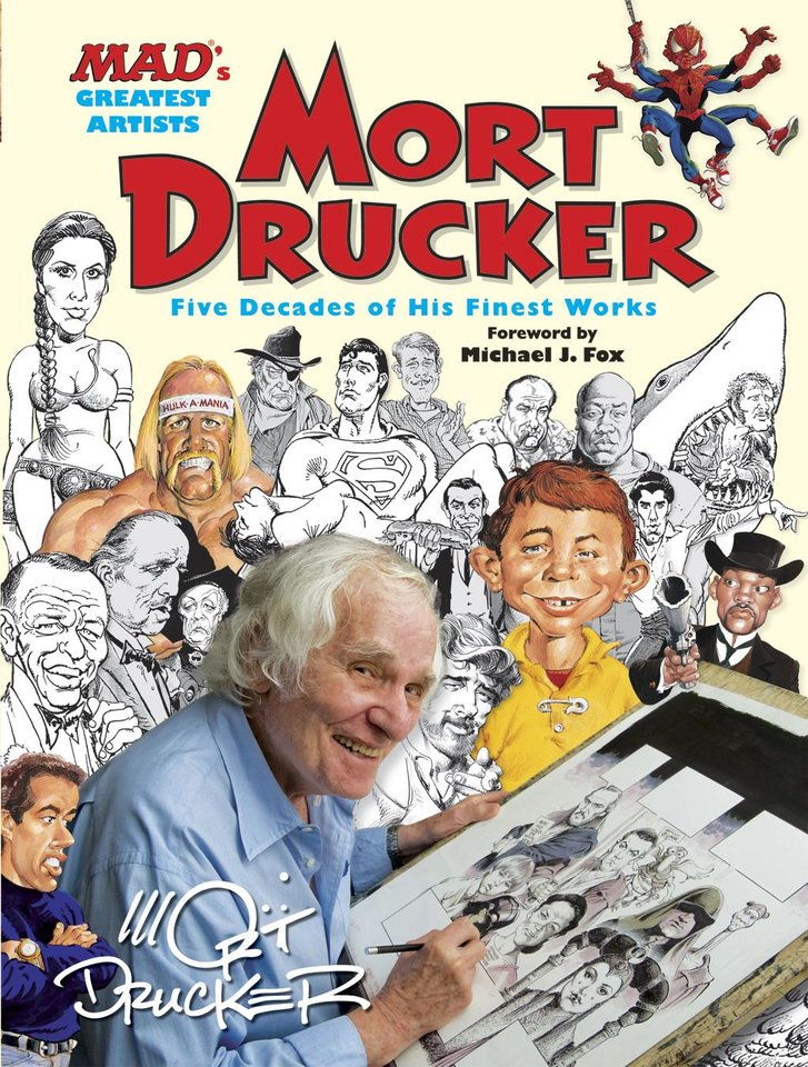 "This book cover image released by Running Press shows ""Mort Drucker: Five Decades of his Finest Works."" The book is a collection of movie and TV satire plucked in comic-strip format from the pages of the magazine. George Lucas and Steven Spielberg, who were among Drucker's targets, wrote notes of appreciation.(AP Photo/Running Press)"