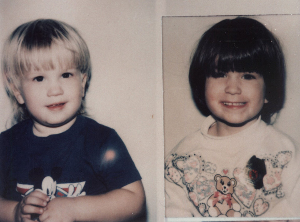 Photo - From left are murder victims Timmy Glen Jarman, 3, and Tonya Kay Jarman, 5. The children were found dead with their mother in December 1993.  Photo Provided
