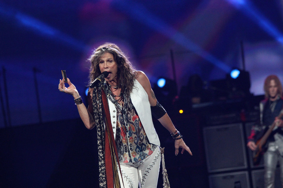 Steven Tyler and Aerosmith performed at Chesapeake Energy Arena Thursday night. <strong>Vernon Gowdy III  - Special to The Oklahoman</strong>