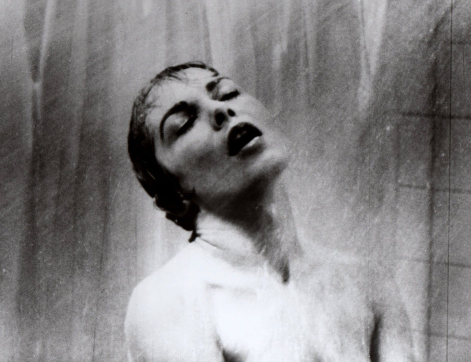 Photo -   FILE - In this 1960 file photo, actress Janet Leigh appears as Marion Crane in the shower scene in Alfred Hitchcock's 1960 classic thriller
