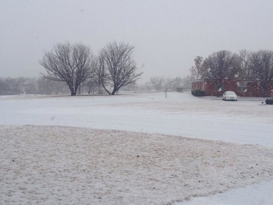 Photo - Snow in Cordell. Photo by Eugene Thieszen