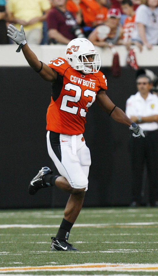 Photo - OSU cornerback Perrish Cox will be looked to help create turnovers on the defensive side of the ball this season. (Photo by Sarah Phipps, The Oklahoman)