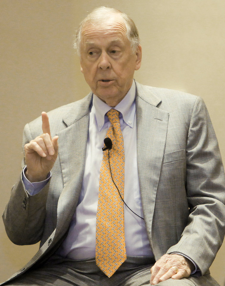 T. Boone Pickens had Oklahoma State coaches and donors visit his Texas ranch last week for a brainstorming session. Photo by Chris Landsberger, The Oklahoman