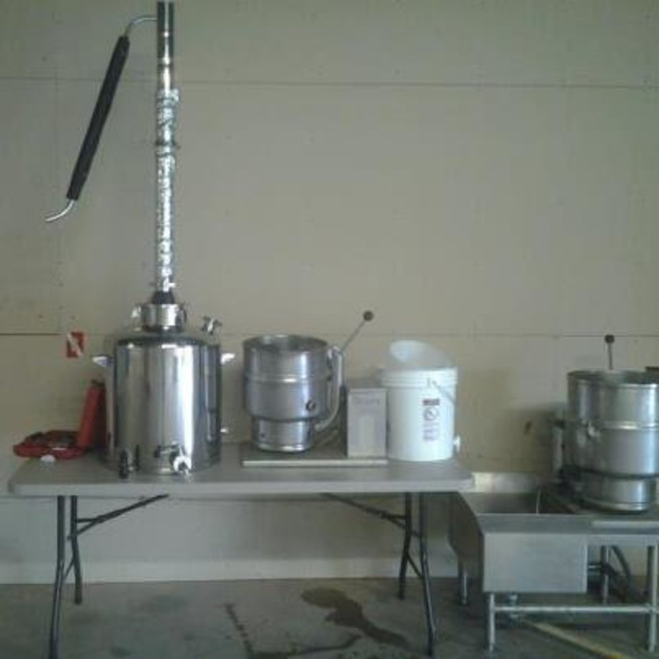 Photo - Twister Distillery and Co. awaits final approval before beginning production in Moore. Equipment is shown in their facility. PHOTO PROVIDED